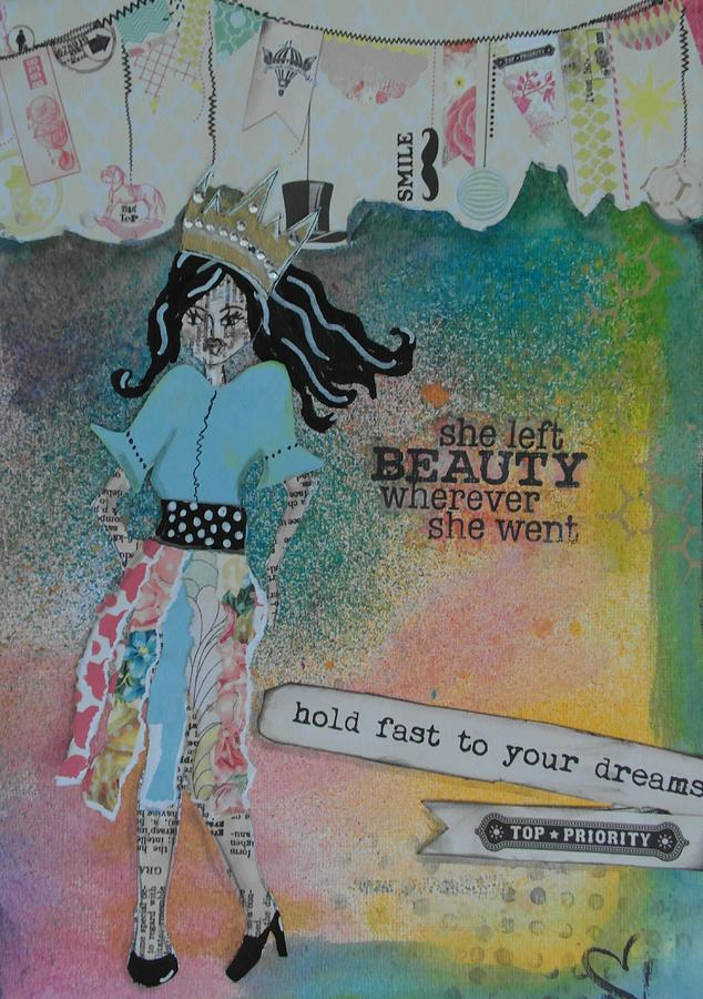 Beauty Mixed Media - She Left Beauty by Debbie Hornsby