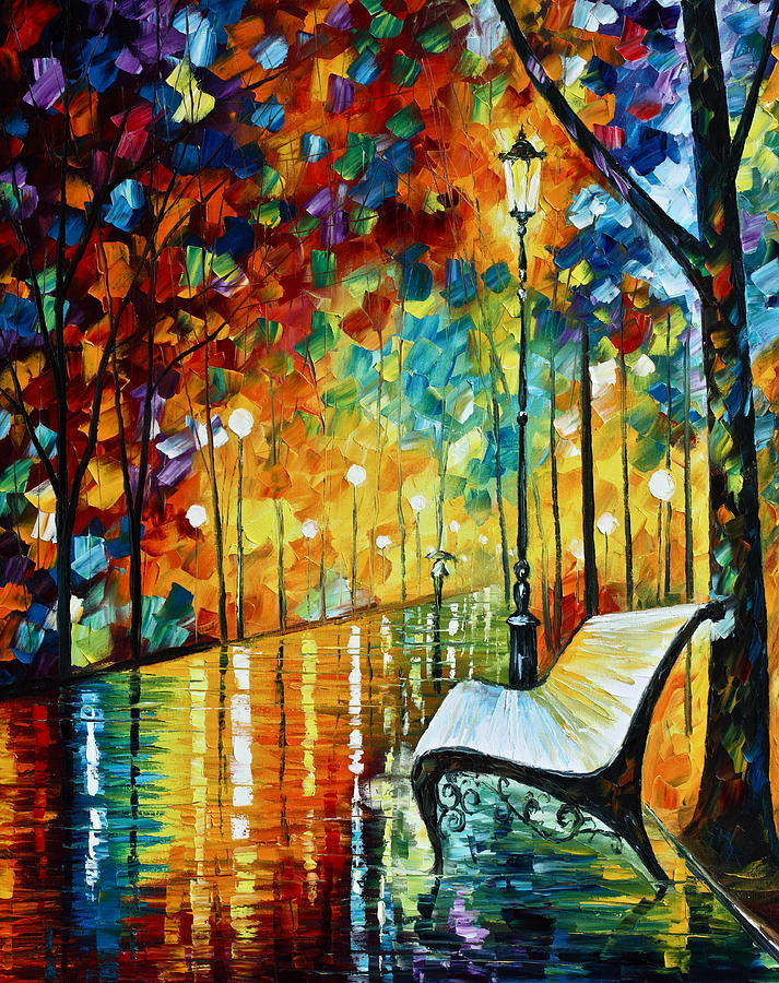 Park Painting - She Left.... New Version by Leonid Afremov