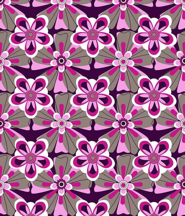 Posters Digital Art - She Loves Me Floral by Lisa Noneman