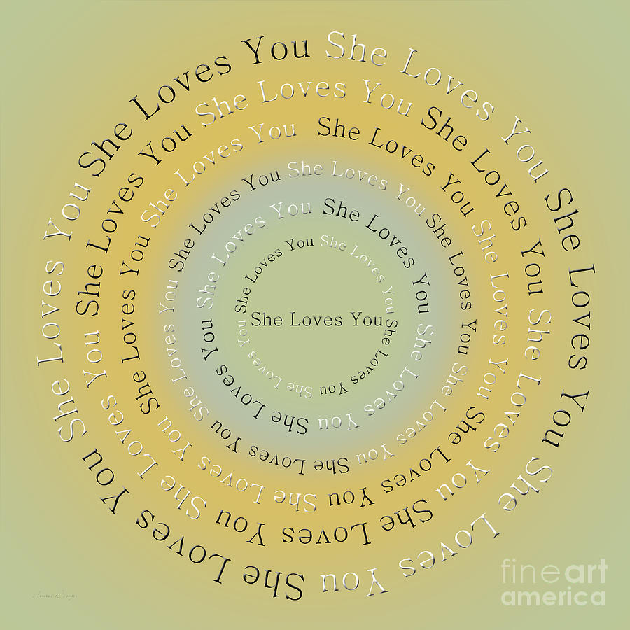 Andee Design Digital Art - She Loves You 4 by Andee Design