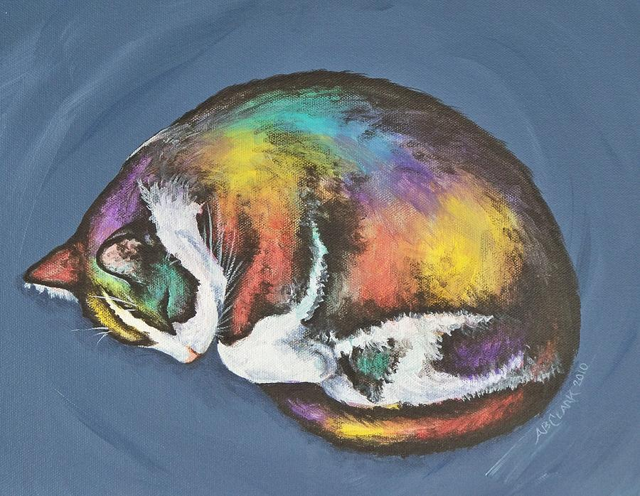 Painting - She Purrs In Color by Beth Clark-McDonal