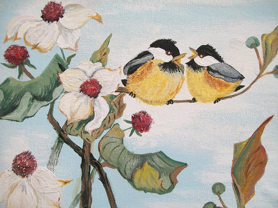 Flowers Painting - She Said by Sharon Duguay
