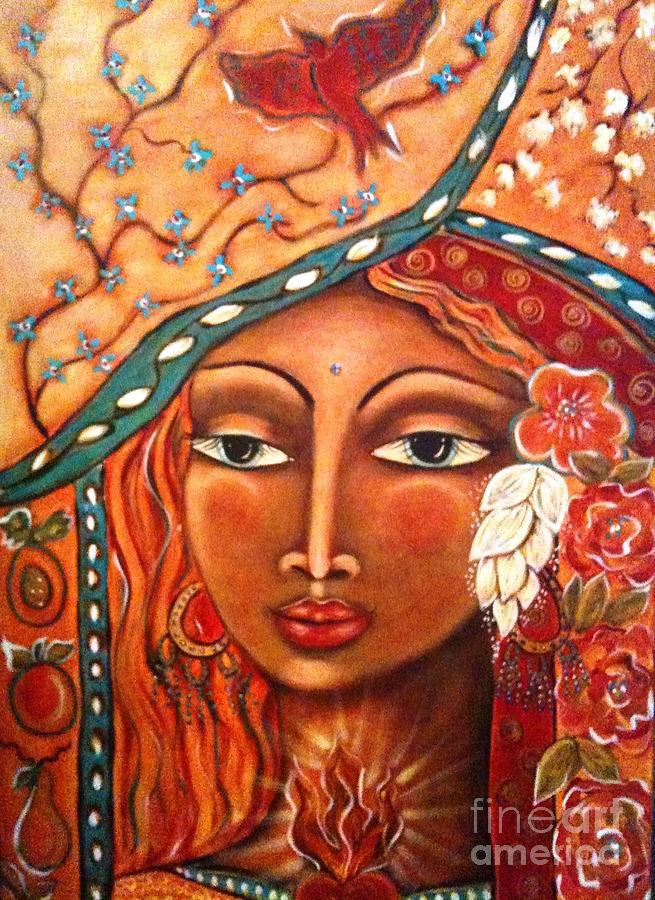 Goddess Painting Painting - She Sees by Maya Telford