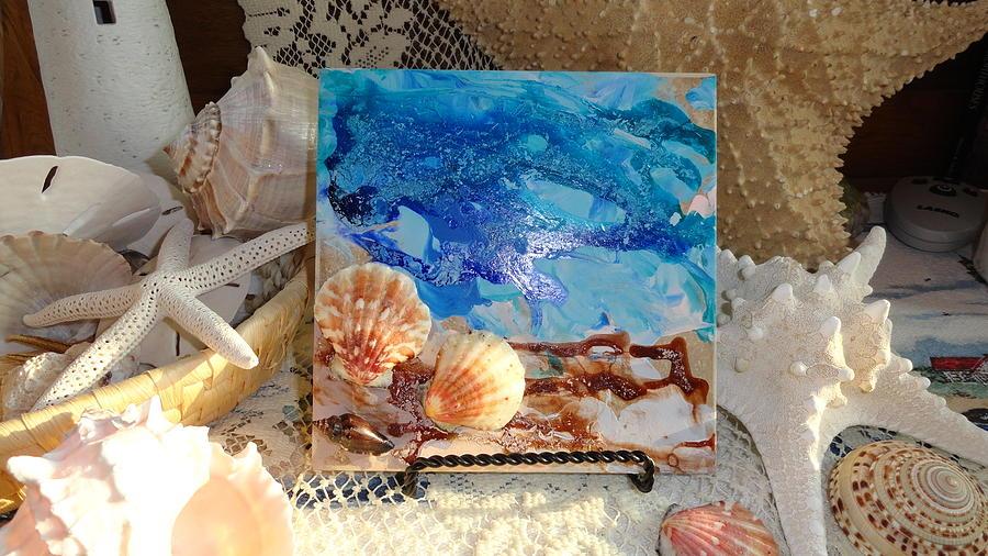 Beach Painting - She Sells Seashells...exterior by Madigan Lang