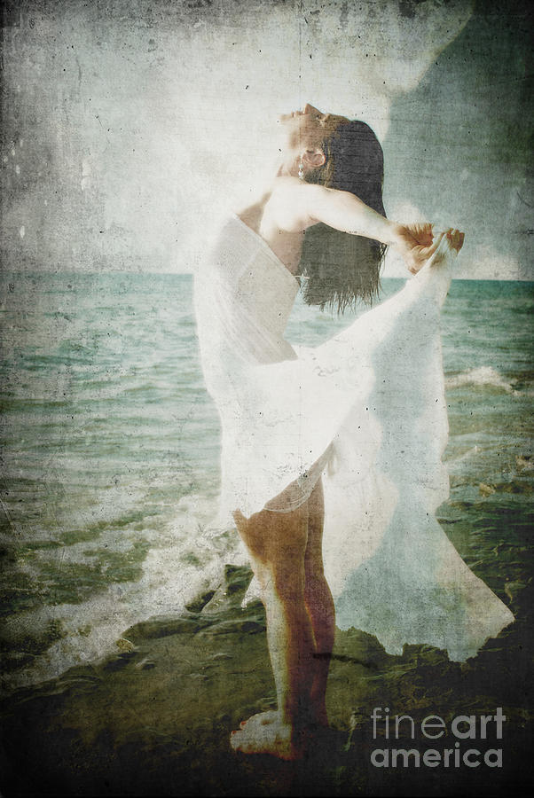 Figurative Photograph - She Was Made Of The Sea by Sharon Coty