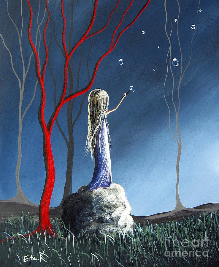 Trees Painting - She Whispers Her Dreams By Shawna Erback by Shawna Erback