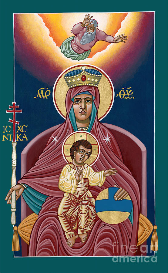 Icon Painting - She Who Reigns 276 by William Hart McNichols