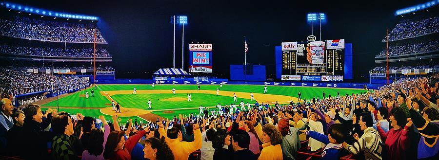 New York Mets Painting - Shea Stadium Classic by Thomas  Kolendra