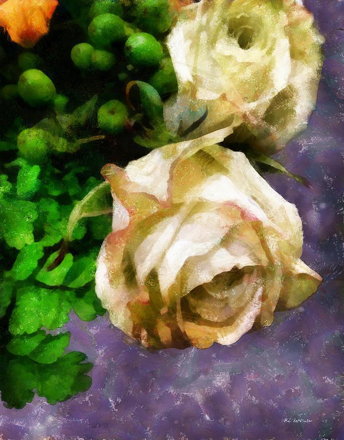 Roses Painting - Shedding Stardust by RC deWinter