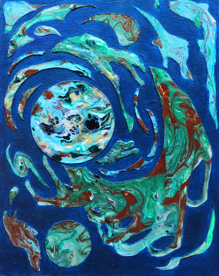 Abstract Painting - Shedding Vapor by Angie Brown