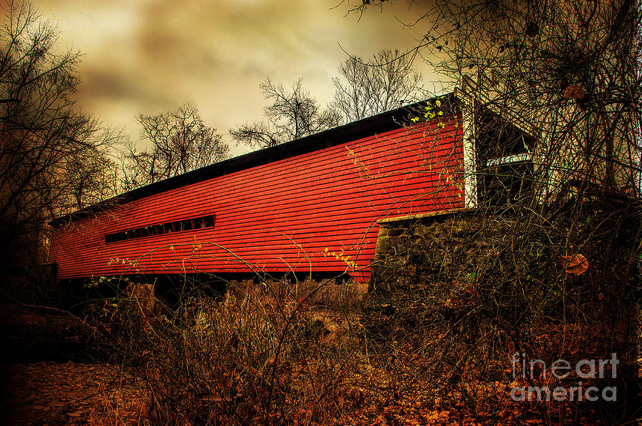 Sheeder Hall Covered Bridge 2 Photograph