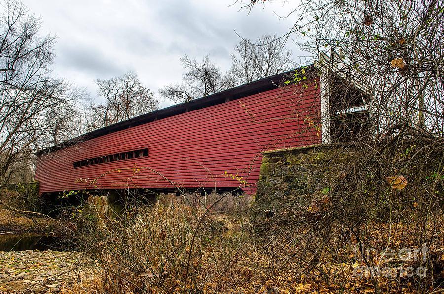 Sheeder/hall Covered Bridge Photograph