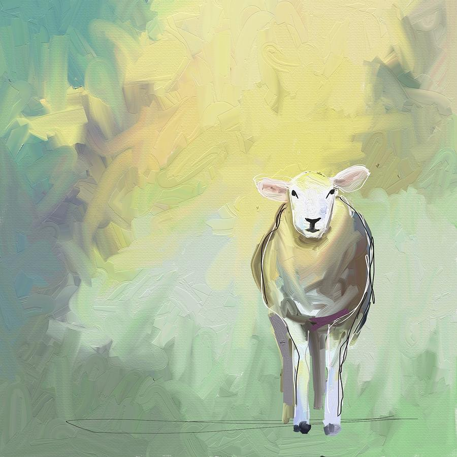 Lamb Photograph - Sheep dressed in light by Cathy Walters