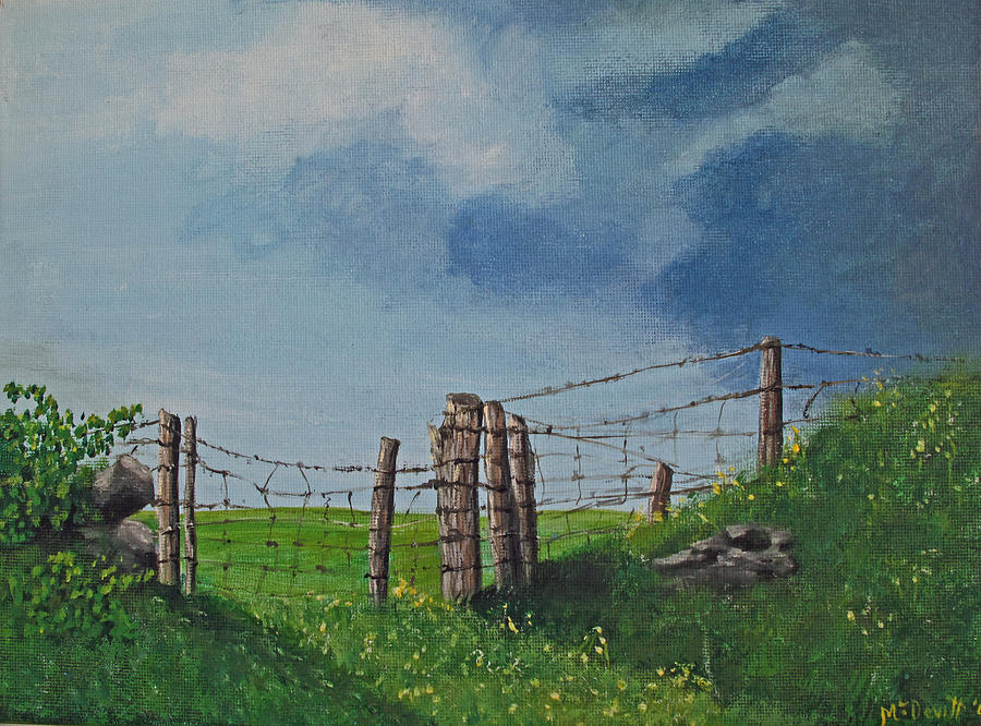 Field Painting - Sheep Field by Barbara McDevitt