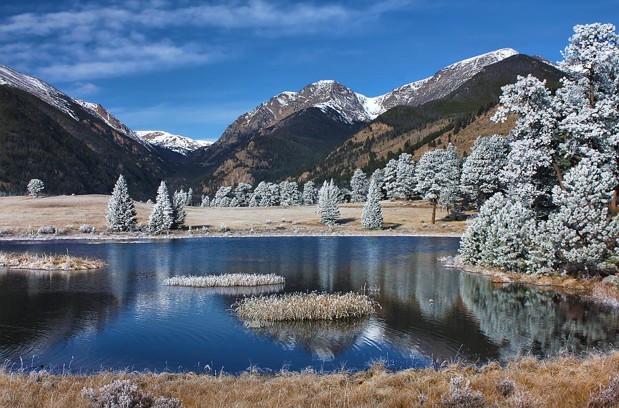 Landscape Photograph - Sheep Lakes In Late October by Darrell E Spangler