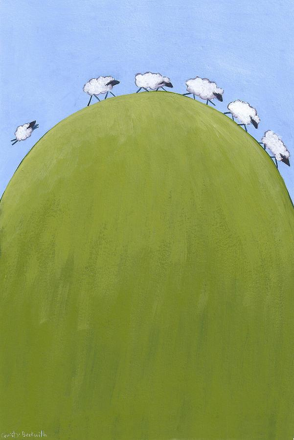 Whimsical Sheep Art Painting