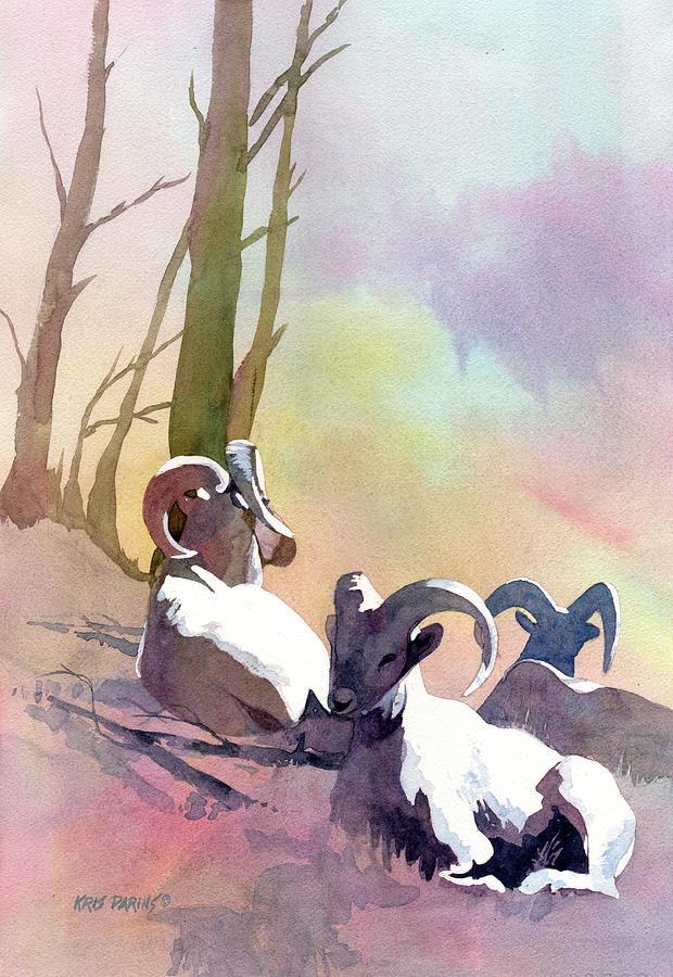 Artist Painting - Sheep Shape by Kris Parins