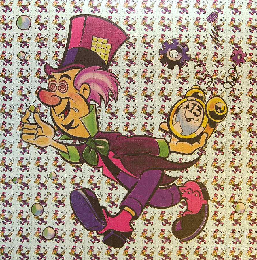 sheet of mad hatter blotter acid photograph by science source