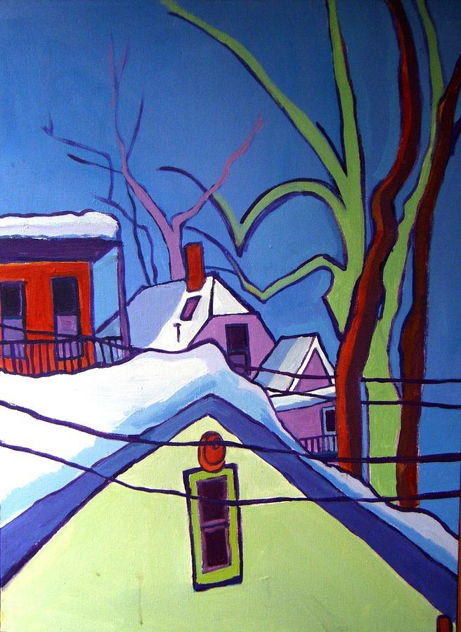Buildings Painting - Sheffield Winter by Debra Bretton Robinson