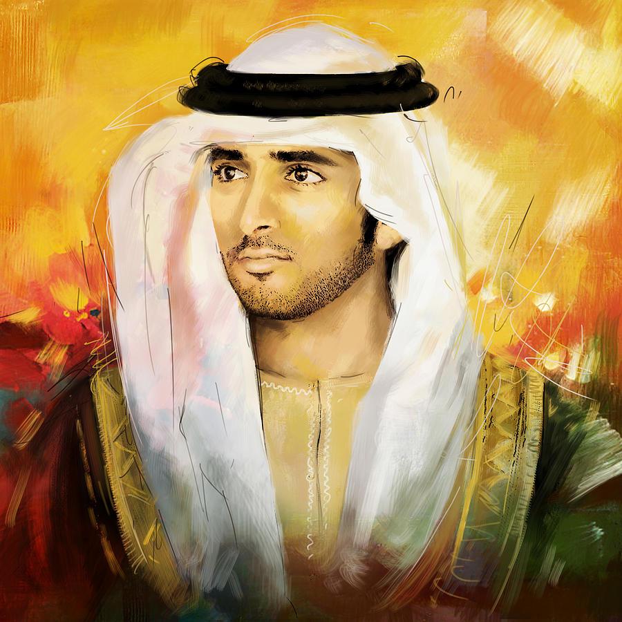 Sheikh Hamdan Bin Mohammed by Corporate Art Task Force