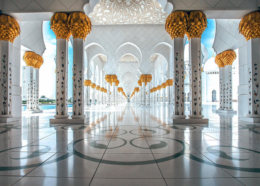 Uae Photograph - Sheikh Zayed Grand Mosque by Robert  Aycock