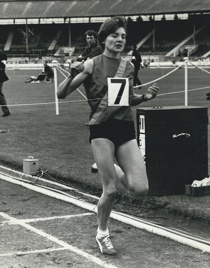 Retro Photograph - Sheila Taylor Wins 800 Metres by Retro Images Archive