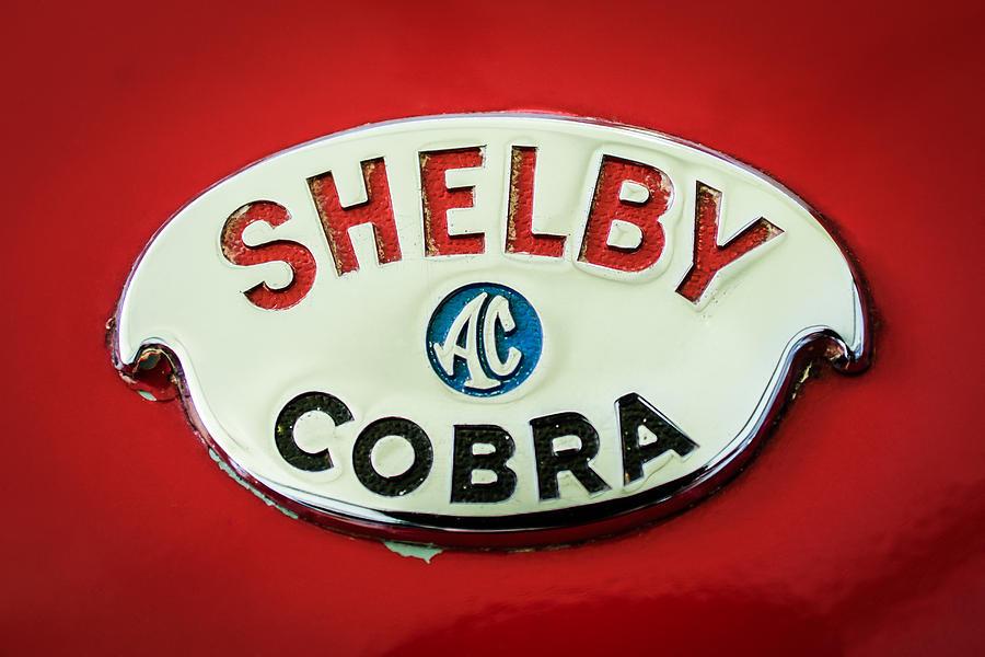 Transportation Photograph - Shelby AC Cobra Emblem -0282c by Jill Reger