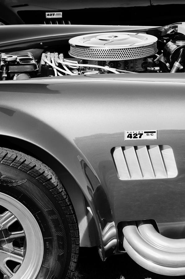 Shelby Cobra Photograph - Shelby Cobra 427 Engine by Jill Reger