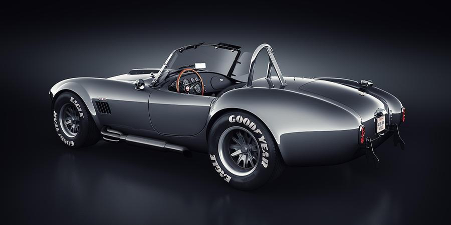 Transportation Digital Art - Shelby Cobra 427 - Venom by Marc Orphanos