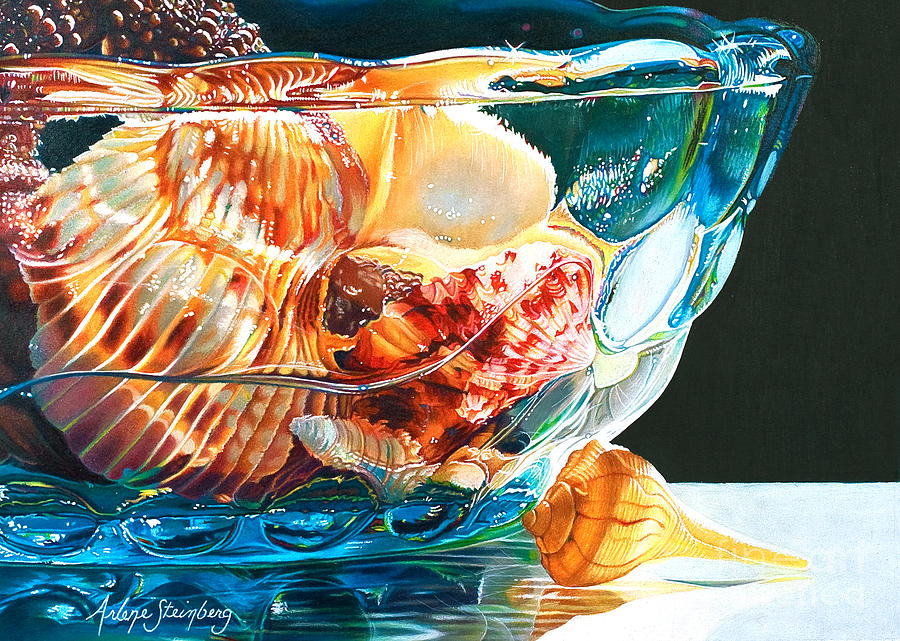 Still Life Painting - Shell Game by Arlene Steinberg
