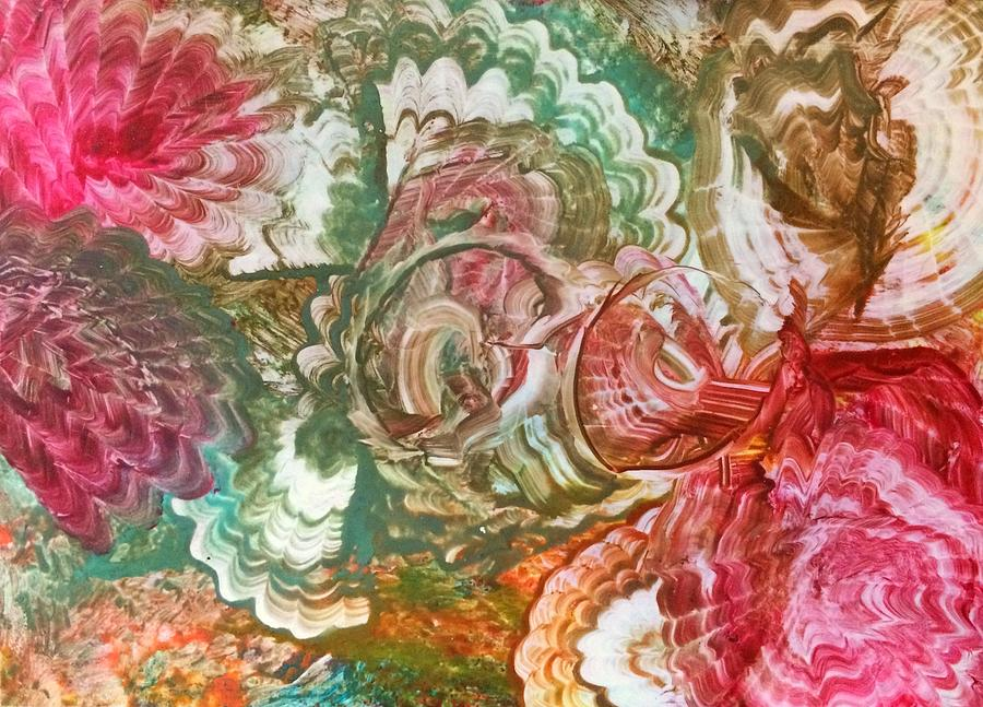 Encaustic Painting - Shell of a time by Christine Johanns