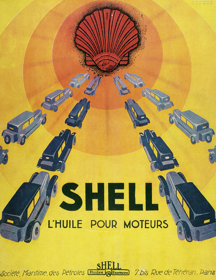 Advert Drawing - Shell Oil For Cars         Date 1929 by Mary Evans Picture Library