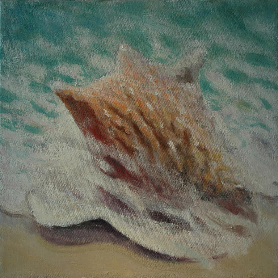 Set Painting - Shell Two - 2 In A Series Of 3 by Don Young