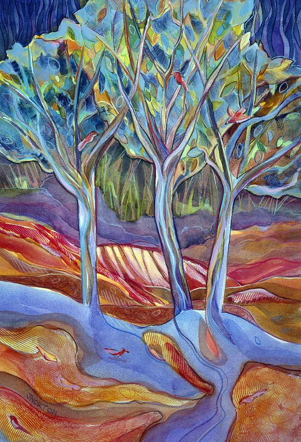 Landscape Painting - Shelter 1 by Jen Norton