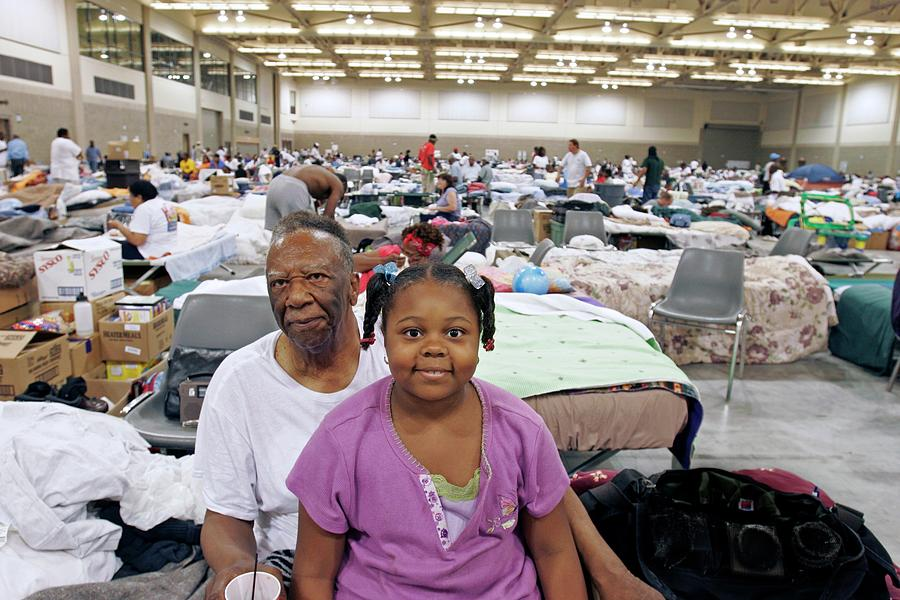 Human Photograph - Shelter For Hurricane Katrina Survivors by Jim West