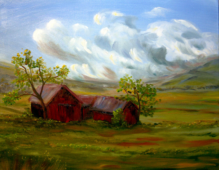 Landscape Painting - Shelter From The Storm by Meaghan Troup