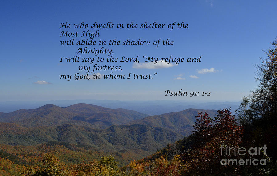 Blue Ridge Mountains Photograph - Shelter of the Most High by Debra Johnson