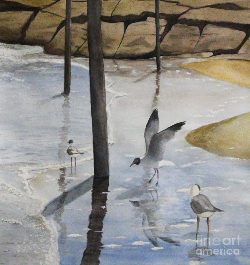 Seascape Painting - Sheltered Corner by Parrish Hirasaki