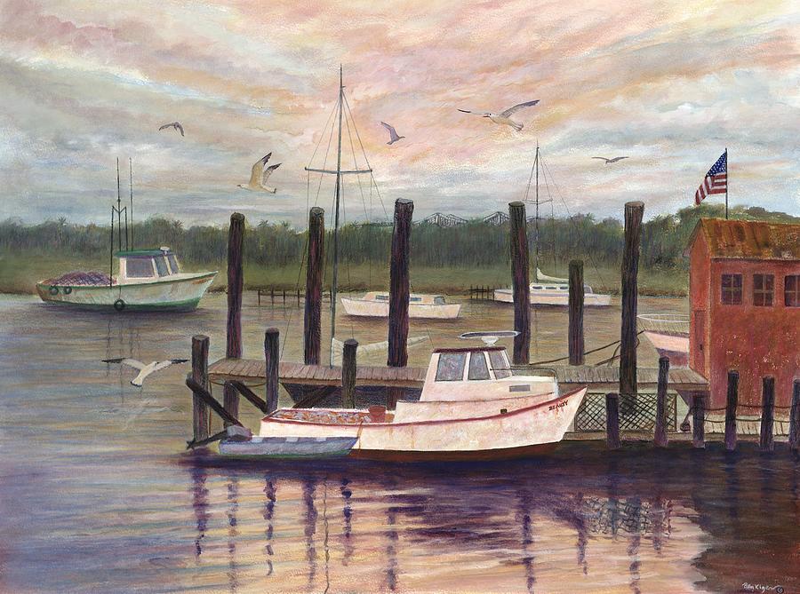 Shem Creek Painting by Ben Kiger