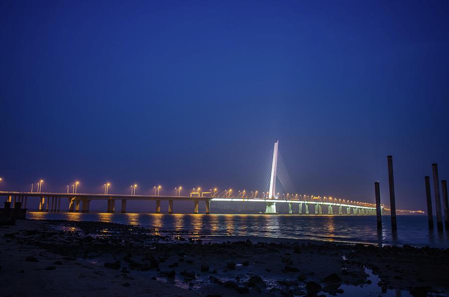 Shenzhen Bay Bridge Photograph by Jeff Chen
