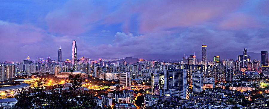 Shenzhen Skyline Panorama Photograph by Jalvaran