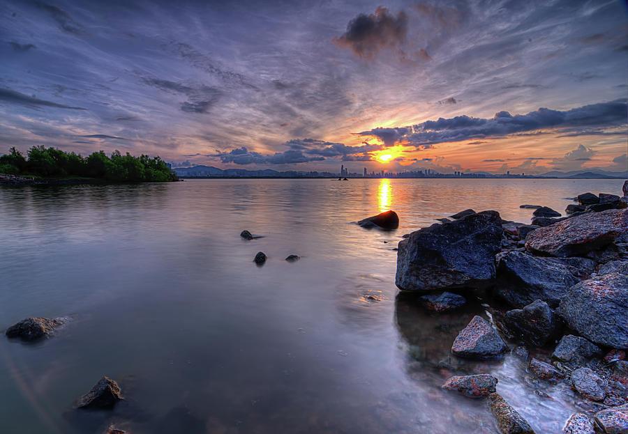 Shenzhen Sunrise Photograph by Jalvaran