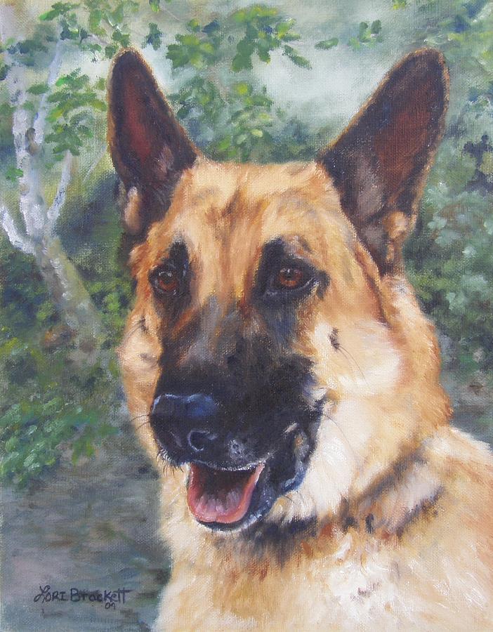 German Shepard Painting - Shep by Lori Brackett