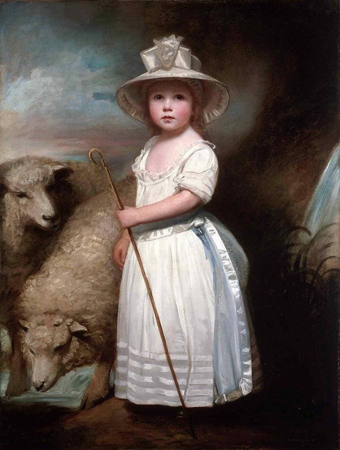 Shepherd Girl Little Bo Peep Painting By George Romney