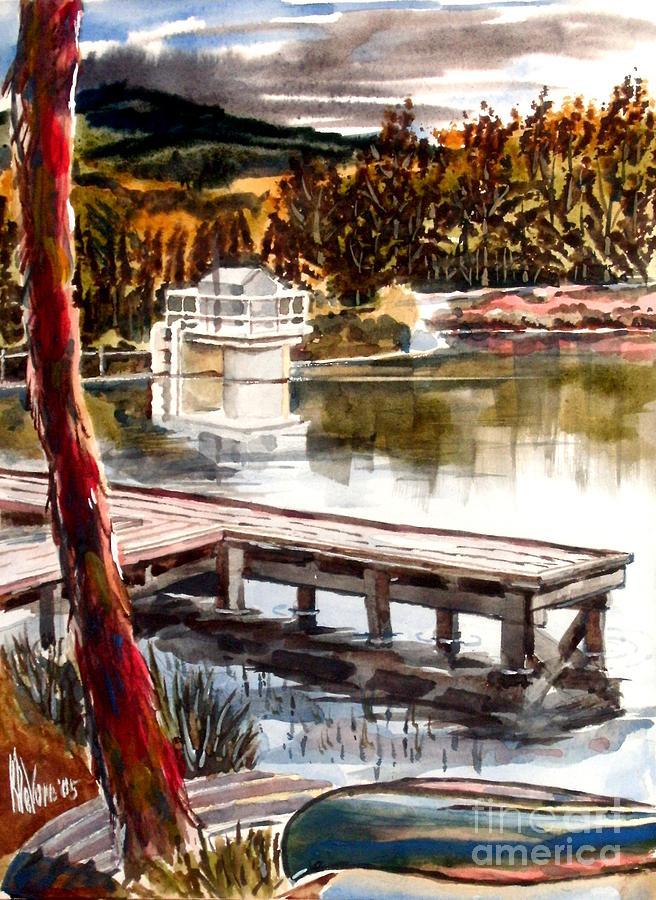 Lake Painting - Shepherd Mountain Lake Bright by Kip DeVore