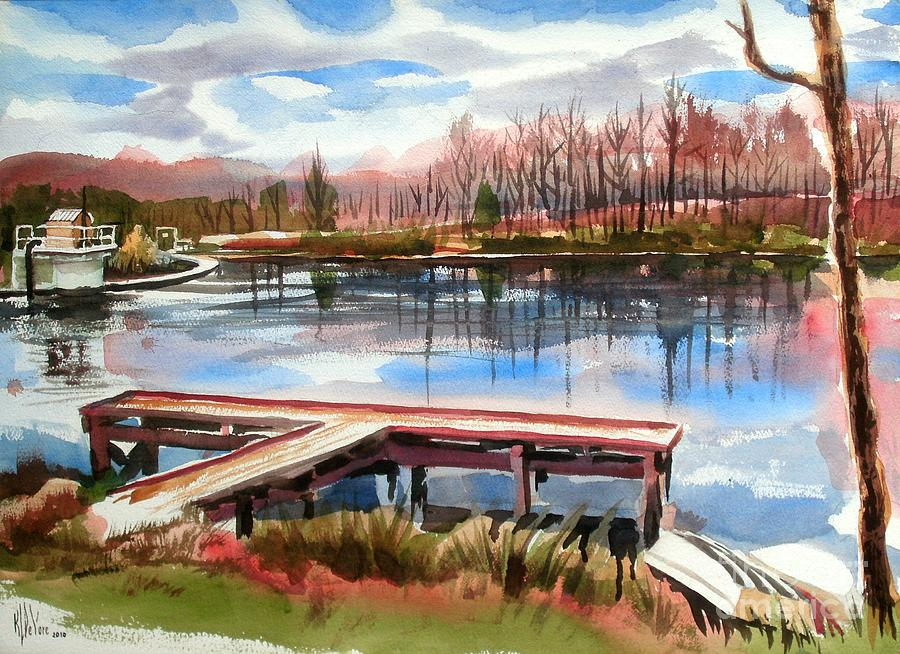 Lake Painting - Shepherd Mountain Lake In Winter by Kip DeVore