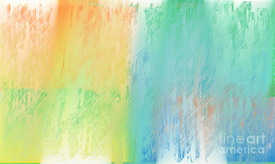 Abstract Digital Art - Sherbet Abstract by Andee Design