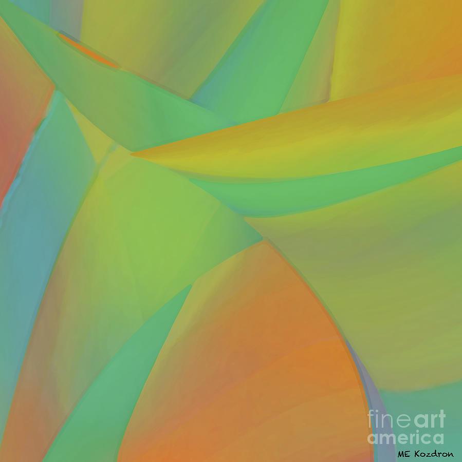 Abstract Digital Art - Sherbeterrain by ME Kozdron