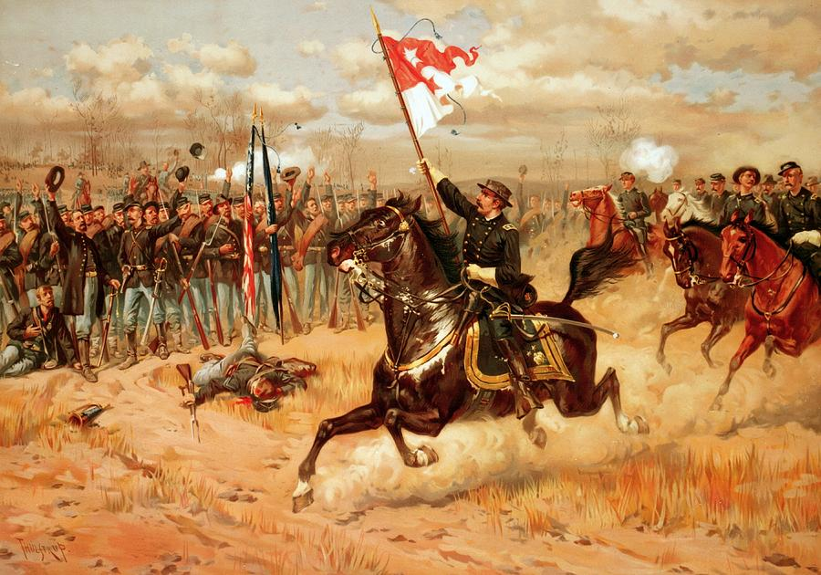 Military Painting - Sheridan Riding by American School