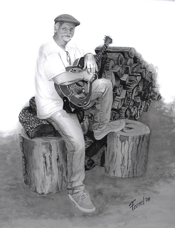Musician Painting - Sherman Dillon by Ferrel Cordle